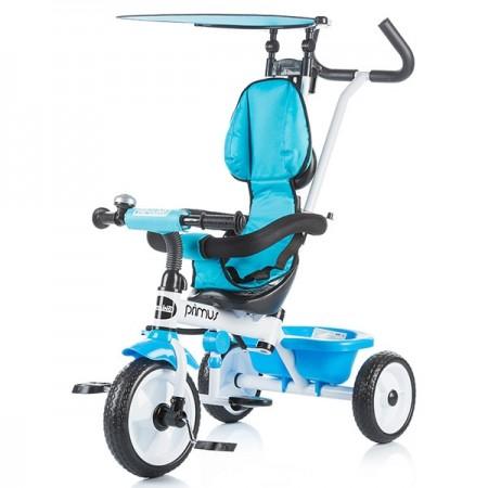 Tricicleta copii, copertina ajustabila, albastra, Chipolino Primus