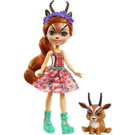 Papusa Enchantimals by Mattel Gabriela Gazelle cu figurina Racer*