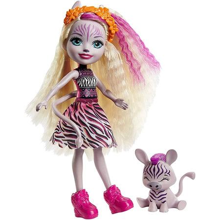 Papusa Enchantimals by Mattel Zadie Zebra cu figurina Ref*