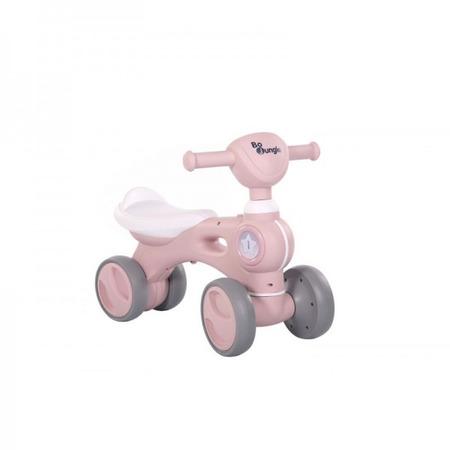 Bicicleta cu 4 roti roz Bo Jungle pentru copii cu lumini si sunete*
