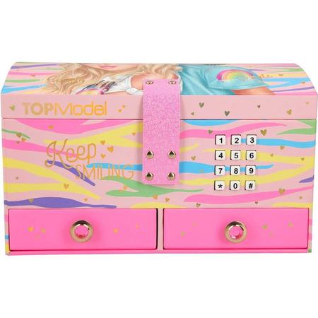 Cutie de Bijuterii mare cu cod Keep Smiling Top Model Depesche PT10865, roz*