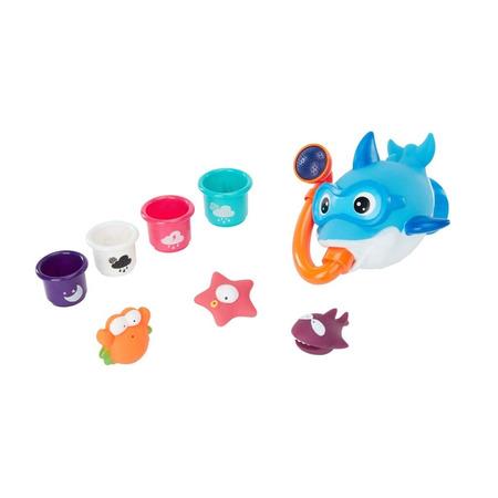 Set jucarii multicolore pentru baie, Badabulle*