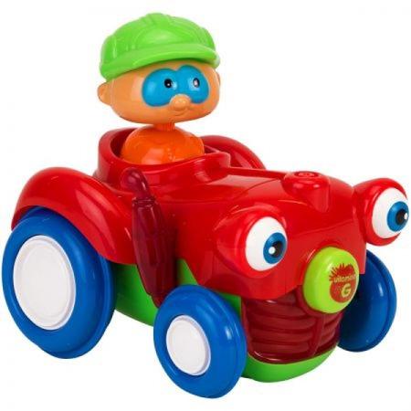 Jucarie bebelusi Vitamina G Tractor cu figurina Lumini si sunete, Globo*