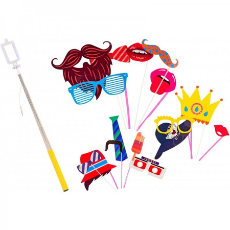 Set accesorii petrecere haioase Globo 38257 masti foto si selfie stick, Globo Kidea*