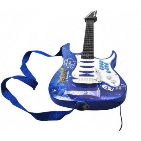 Set chitara, amplificator si microfon Iso Trade MY17462, albastru*