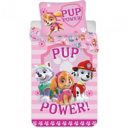 Set lenjerie pat copii Paw Patrol Pup Power 100 x 135 + 40 x 60 SunCity BRM004924, roz*