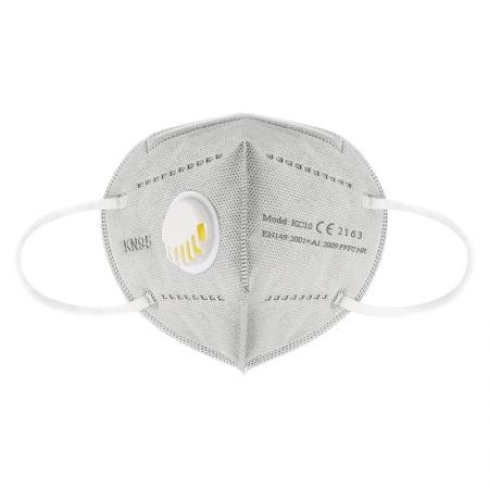 Set 5 Masti protectie ridicata, FFP2, KN95, 6 straturi, sigilate, valva respiratorie 95%, filtru carbon, gri, certificate EU