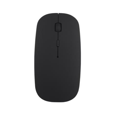 Mouse wireless Bervolo® Uno Office Black, Bluetooth 5.0, reincarcabil prin usb, Windows, Mac, Android, baterie 750mAh