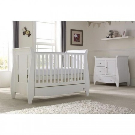 Set mobilier katie alb format din 2 piese: patut si comoda, Tutti Bambini*