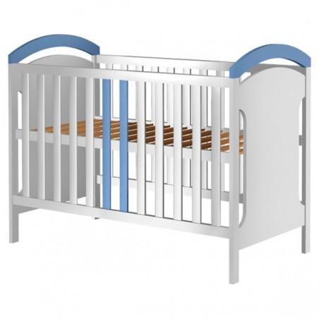 Patut copii din lemn Hubners Hansell 120x60 cm alb-albastru