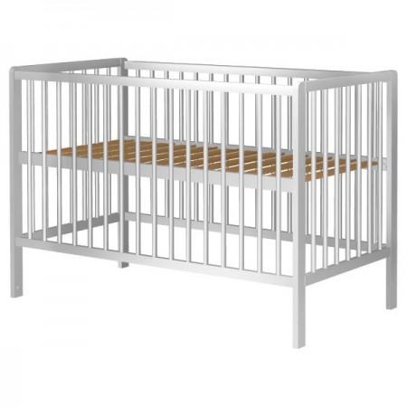 Patut copii din lemn Hubners Dominic 120x60 cm alb