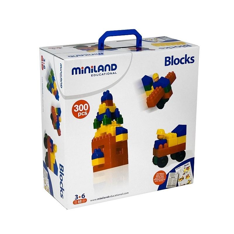 Joc de constructii Caramizi Miniland 300 buc