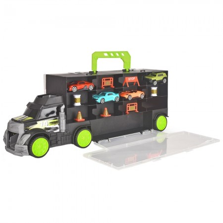 Camion Dickie Toys Carry and Store Transporter cu 4 masinute si accesorii*
