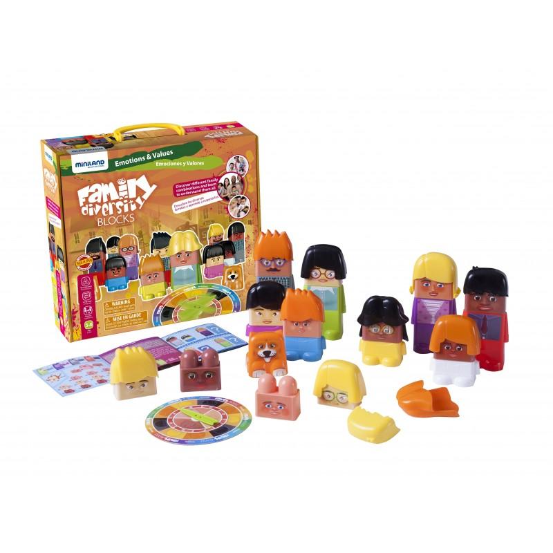 Joc de construit Family Diversity - Miniland