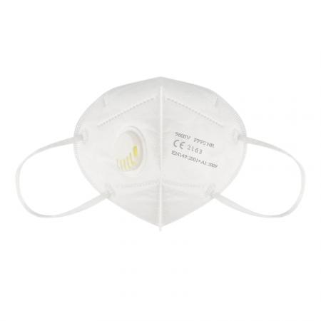 Set 10 Masti protectie ridicata, FFP2, KN95, 6 straturi, sigilate, valva respiratorie 95%, filtru carbon, alb, certificate EU