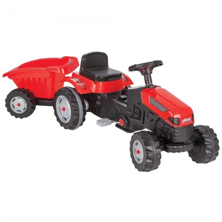 Tractor cu pedale si remorca Pilsan Active with Trailer 07-316 red*