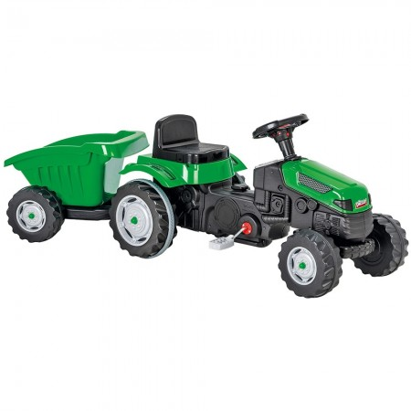 Tractor cu pedale si remorca Pilsan Active with Trailer 07-316 green*