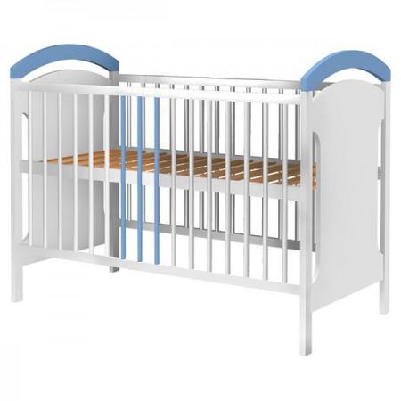 Patut copii din lemn Hubners Anita 120x60 cm alb-albastru