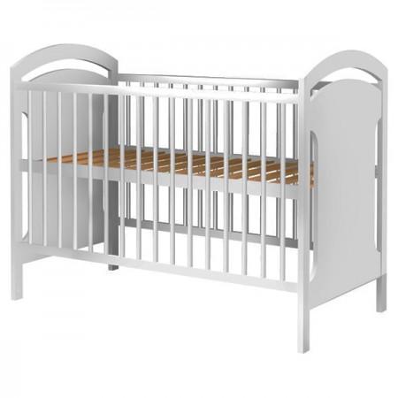 Patut copii din lemn Hubners Anita 120x60 cm alb