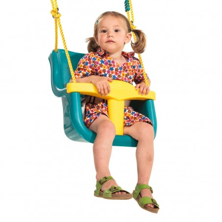 Leagan pentru copii Luxe PP galben - turcoaz