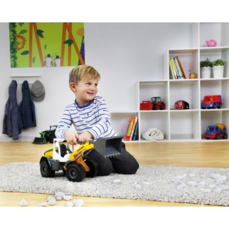 Buldoexcavator incarcator din plastic Liebherr L538 Worxx pentru copii 48 cm