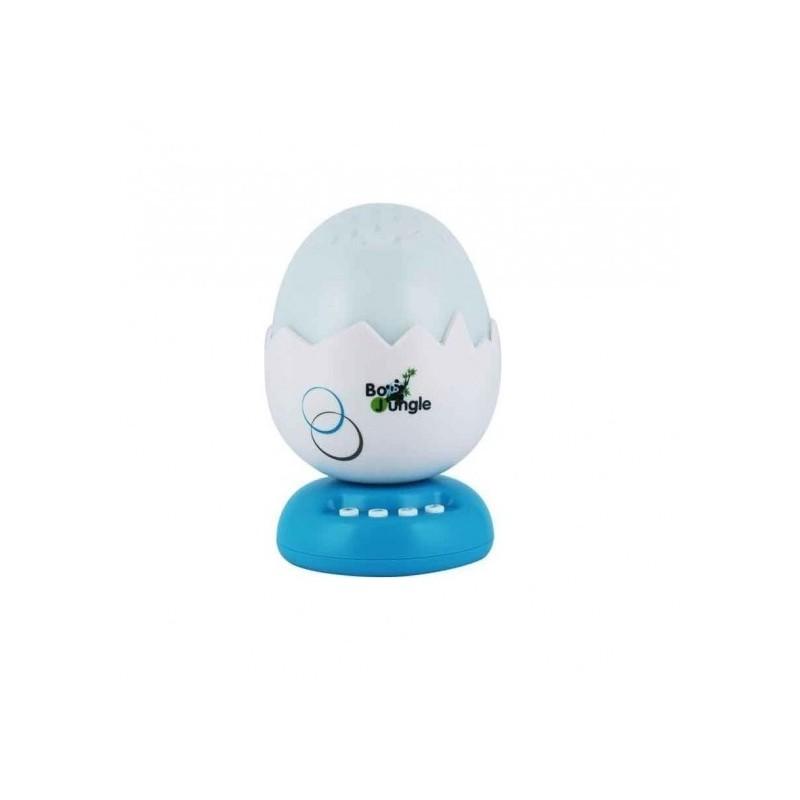 Lampa de veghe si proiector pentru copii si bebelusi BO Jungle forma Ou cu stelute