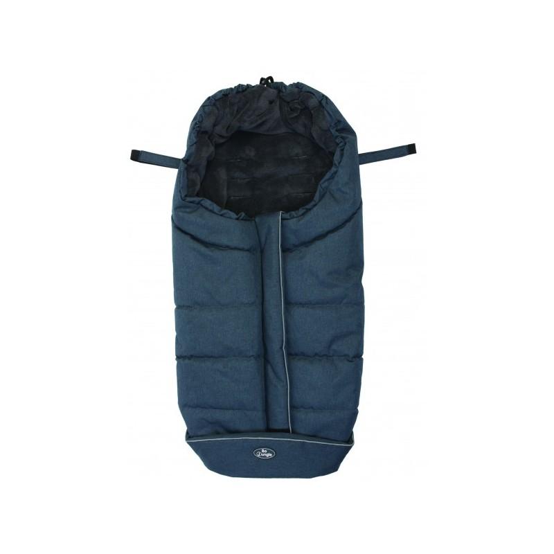 Sac de dormit pentru carucior BO Jungle Negru cu interior fleece