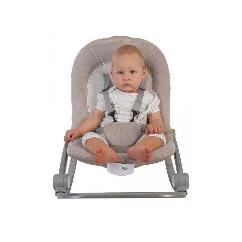 Balansoar cu vibratii BO Jungle Bej pentru bebelusi cu arcada jucarii