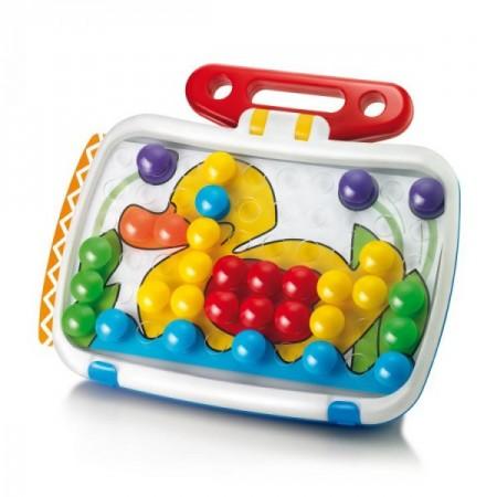 Joc creativitate si indemanare Quercetti Fantacolor Combi Junior Joc Mozaic cu tablita desen 60 piese