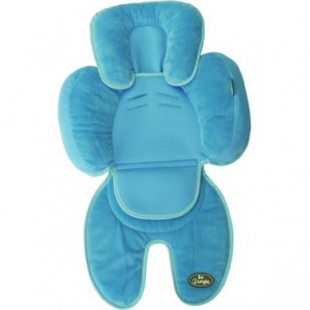 Saltea suplimentara bebelusi pentru carucior, scaun auto, scoica, albastru, Bo Jungle