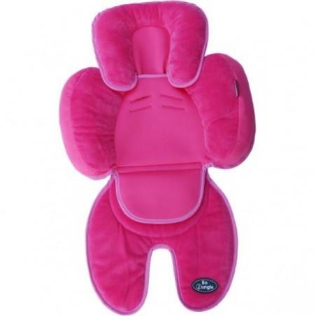 Saltea suplimentara bebelusi pentru carucior, scaun auto, scoica, roz, Bo Jungle