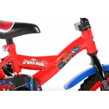 Bicicleta pentru baieti 10 inch cu maner si roti ajutatoare Spiderman